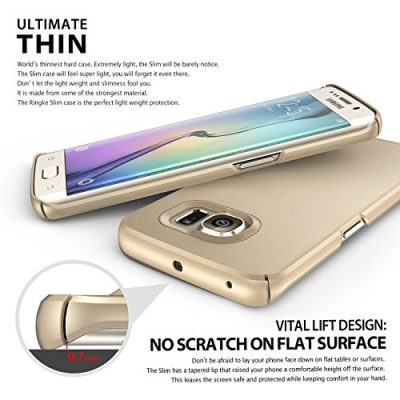 s6 edge plus ringke slim gold