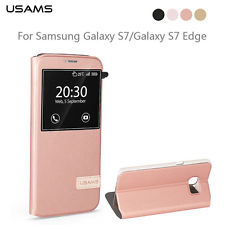 s7 usams s view rose gold