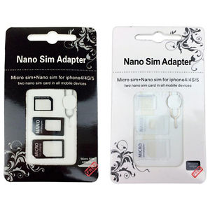 3 in 1 SIM adaptor white $4.90