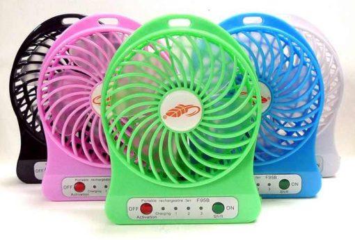 Mini USB fan rechargeable battery pink $11.90