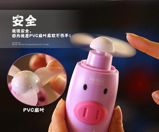 Remax cute mini fan pink $9.90