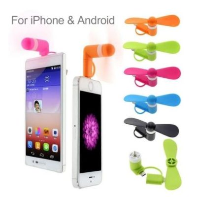 mini usb  android phone fan blue $1.90