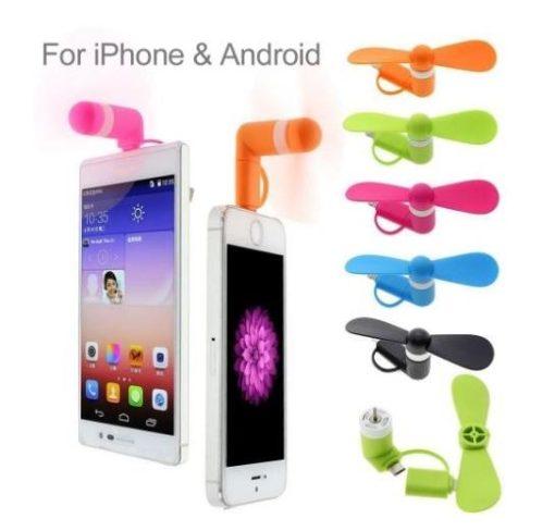 mini usb  android phone fan blue $1.90