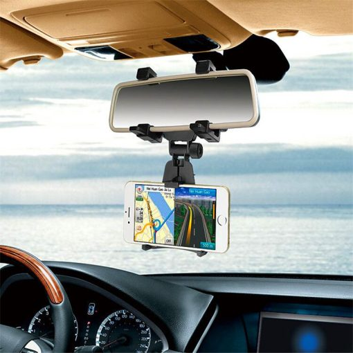 phone car holder mount on rear mirror $15.90