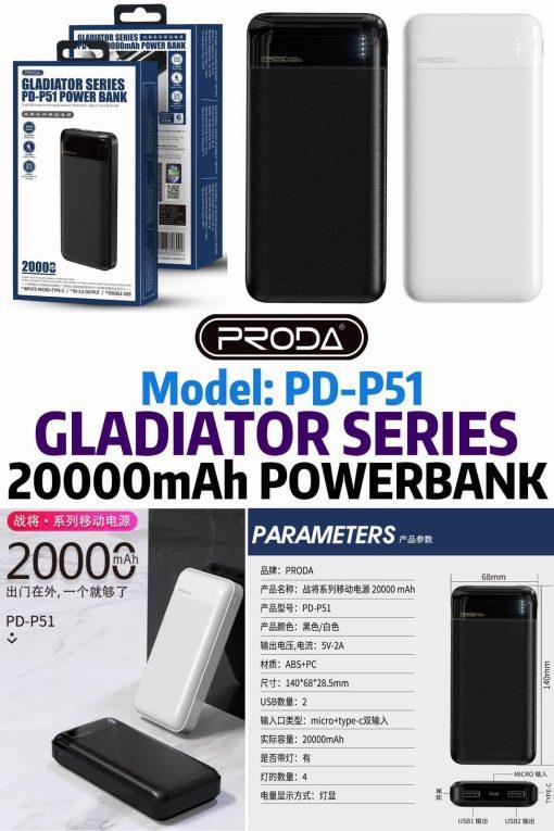 proda-pd-p51-20000mah-powerbank-black-white-33-50-6month-warranty