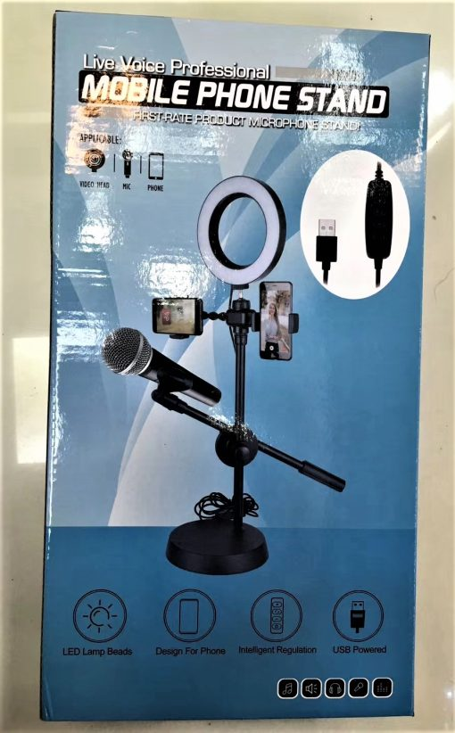 mobile-phone-light-microphone-stand